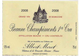 Domaine Albert Morot - Beaune Premier Cru - Champimonts - Rouge - 2008