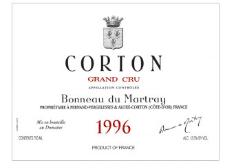 Domaine Bonneau du Martray - Corton Grand Cru - Rouge 1996