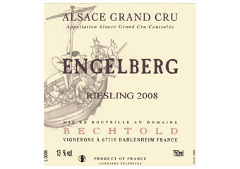 Domaine Bechtold - Alsace Grand Cru - Riesling Engelberg Blanc 2008