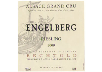 Domaine Bechtold - Alsace Grand Cru - Riesling Engelberg Blanc 2009