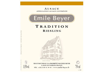 Domaine Emile Beyer - Alsace - Riesling Tradition Blanc 2009