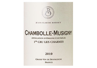 Jean Claude Boisset - Chambolle-Musigny 1er cru - Les Charmes - Rouge - 2010