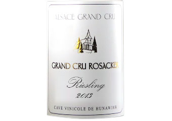 Cave Vinicole de Hunawihr - Alsace Grand Cru - Riesling Rosacker - Blanc - 2013