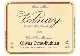 Domaine Cyrot-Buthiau - Volnay - Rouge 2010
