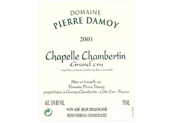 Domaine Pierre Damoy - Chapelle Chambertin Rouge 2001