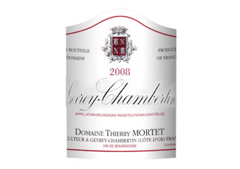 Domaine Thierry Mortet - Gevrey-Chambertin - Rouge 2008