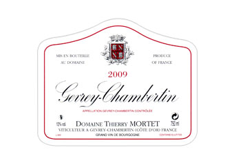 Domaine Thierry Mortet - Gevrey-Chambertin - Rouge 2009