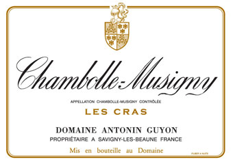 Domaine Antonin Guyon - Chambolle-Musigny - Les Cras - Rouge 2010