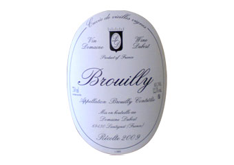 Domaine Jean Paul Dubost - Brouilly - Rouge 2009