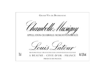 Louis Latour - Chambolle-Musigny - Rouge 2008