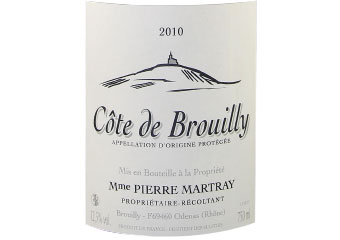 Madame Martray - Côte de Brouilly - Rouge - 2010