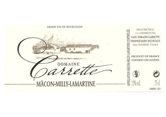 Domaine Carrette - Mâcon-Milly-Lamartine - Blanc - 2014