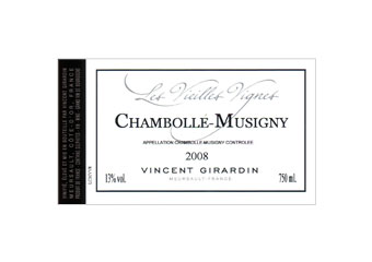 Vincent Girardin - Chambolle Musigny - Vieilles Vignes Rouge 2008